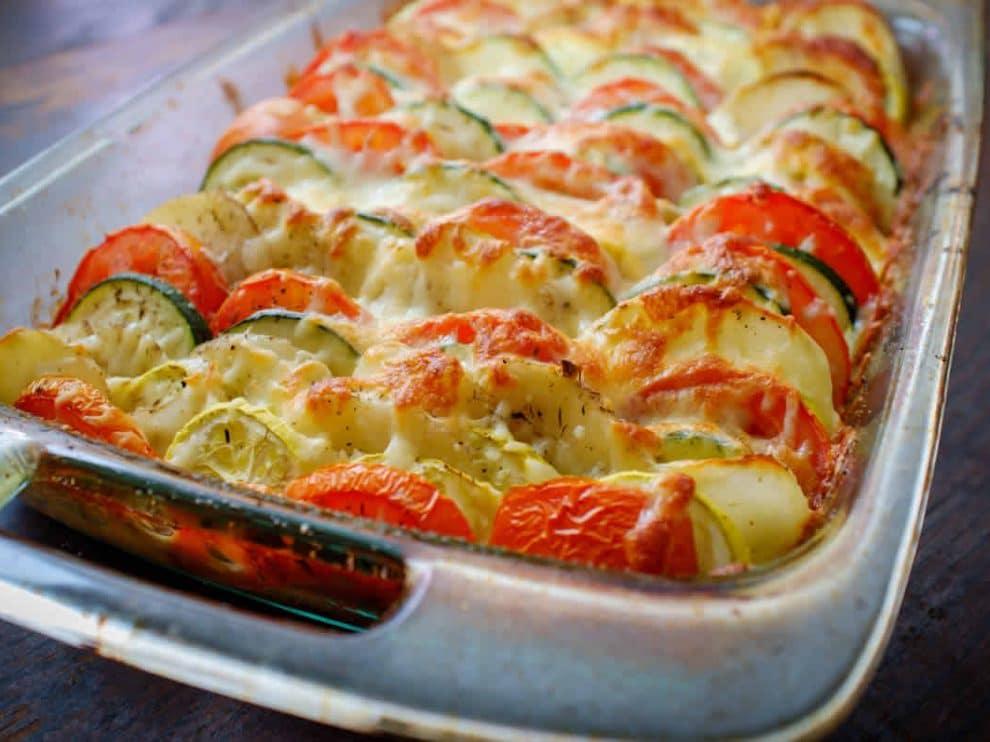 Tian de légumes et mozzarella WW