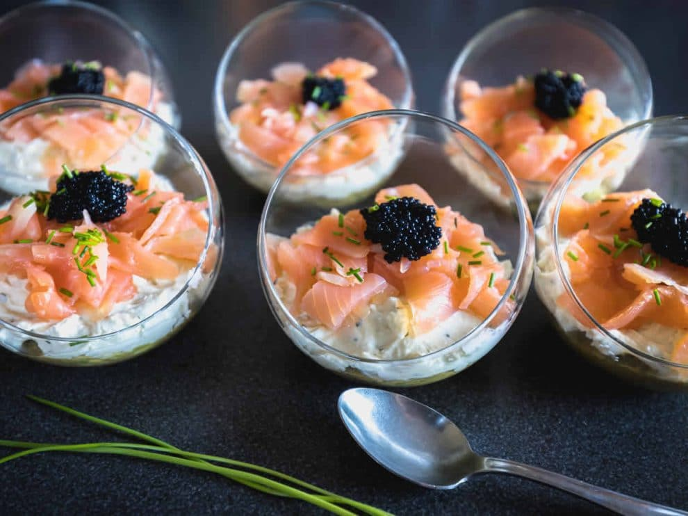 Verrine de saumon en cheesecake au Thermomix
