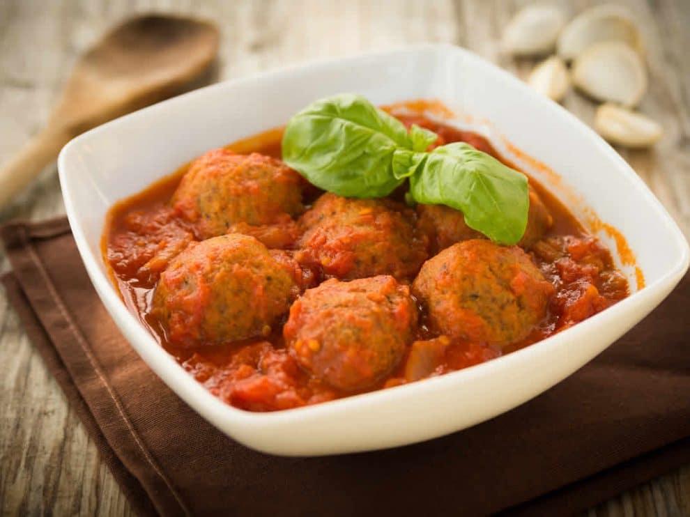 Boulettes de viande hachée à la sauce tomate WW
