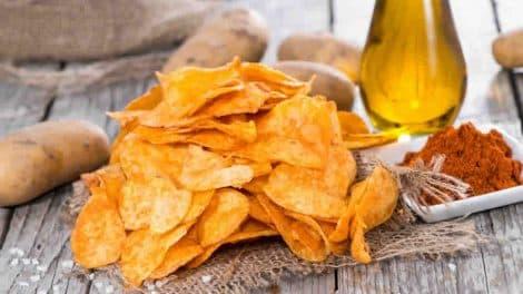 Chips légères au paprika