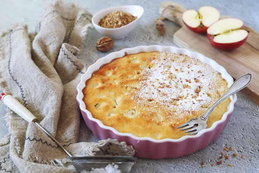 Clafoutis léger aux pommes et skyr