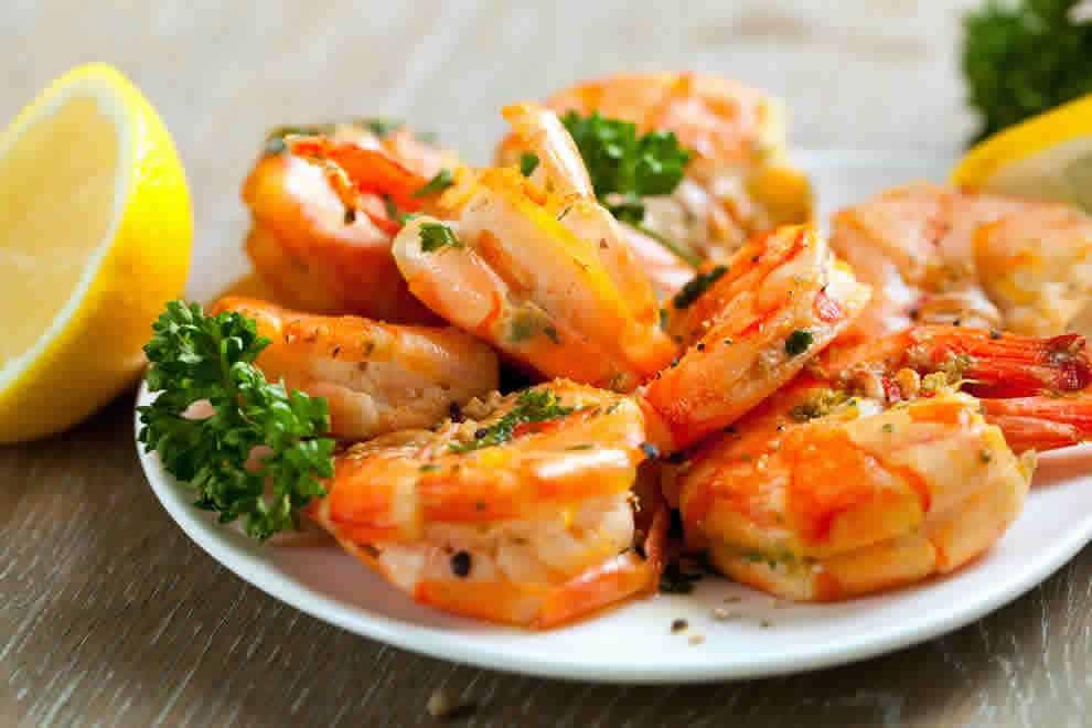Crevettes à l'ail et citron au Thermomix