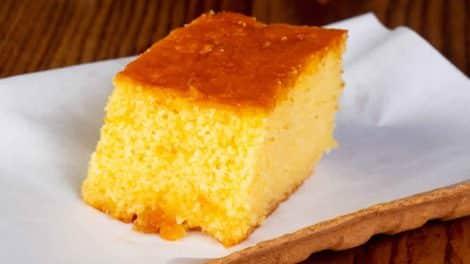 Gâteau léger de semoule à l'orange