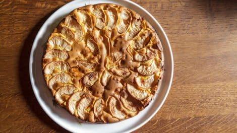 Gâteau normand léger aux pommes
