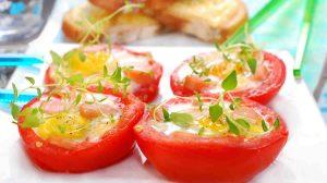 Nids de tomates aux oeufs au Thermomix