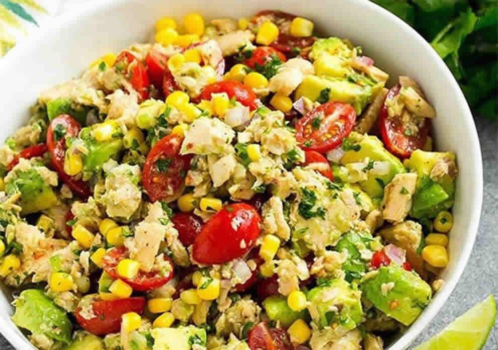 Salade Légère d'Avocat au Thon