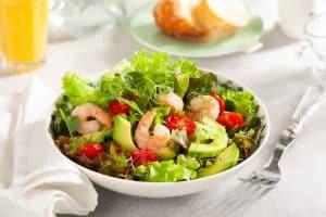 Salade Légère d'avocats aux crevettes