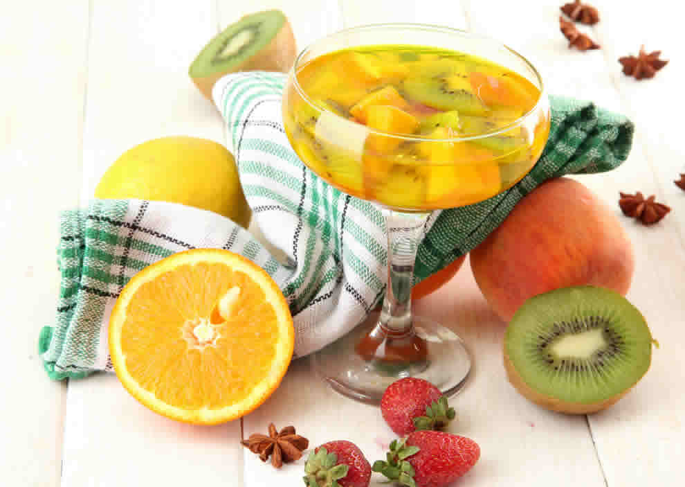 Sangria blanche tropicale au Thermomix