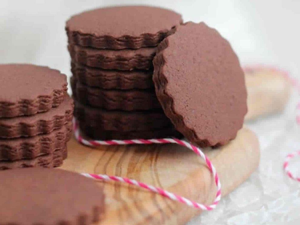Biscuits sablés au chocolat et au café