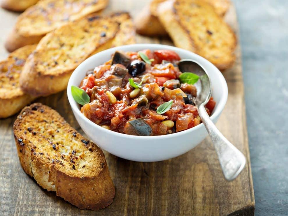 Caponata sicilienne au four, un vrai délice à déguster à l'apéro