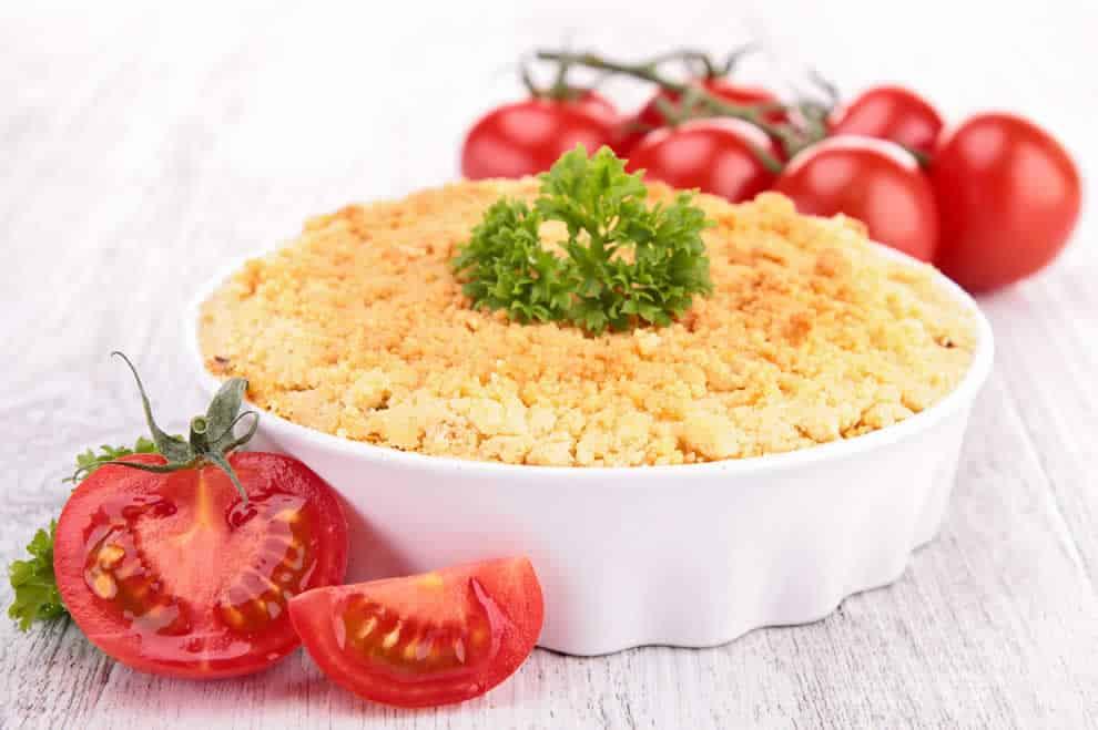 Crumble léger de courgettes au fromage