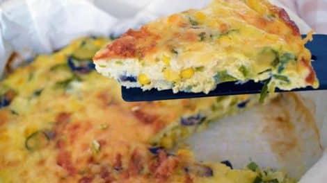 Délicieuse Omelette au four avec maïs et courgettes