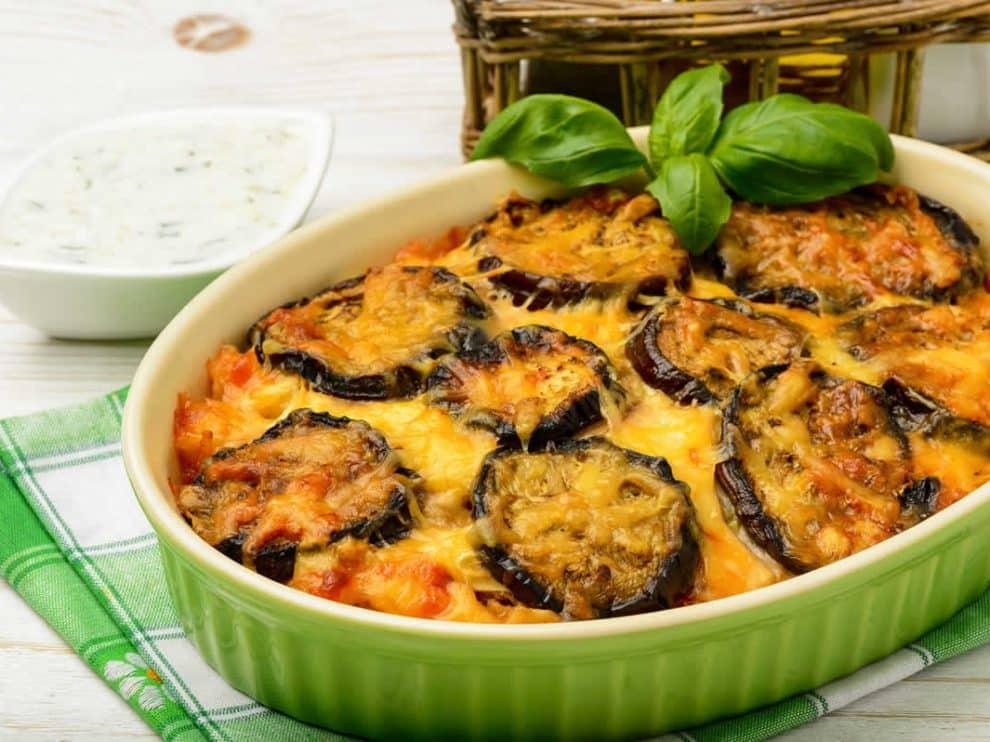 Délicieux Gratin Léger d'aubergines au fromage et viande hachée