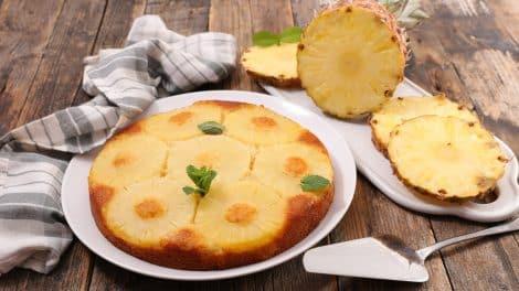 Gâteau Léger à l'ananas et fromage frais, délicieux et savoureux