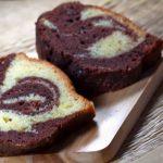 Gâteau Léger marbré au chocolat yaourt et noix