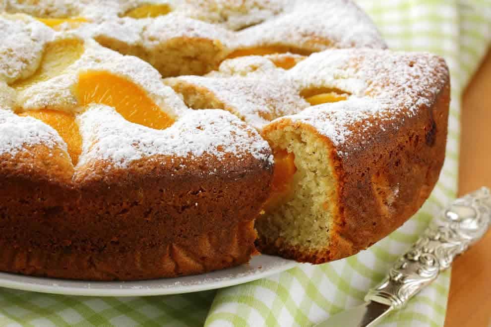 Gâteau moelleux renversé aux pêches au Thermomix