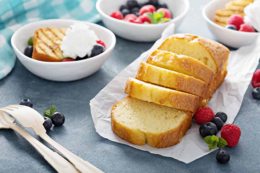 Gâteau quatre-quarts léger