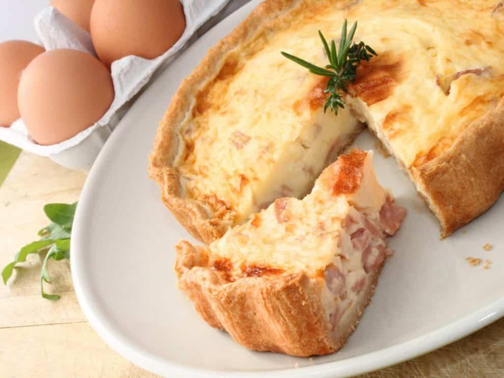 La délicieuse Quiche Légère au jambon et fromage kiri