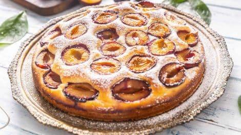 Tarte briochée Légère aux prunes