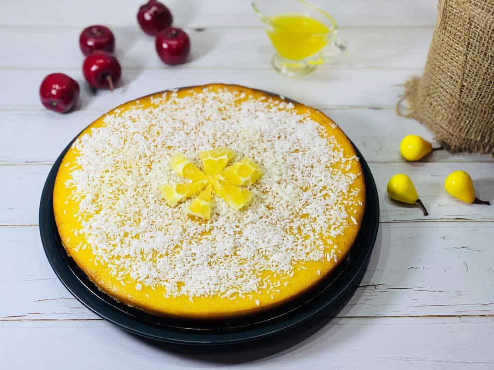 Cake au citron sans farine à la polenta et la poudre d'amande