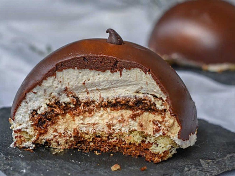 Dôme au chocolat et son cœur croustillant praliné au Thermomix