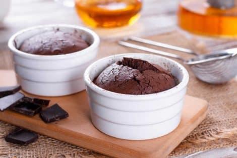 Fondant au chocolat, léger et délicieux