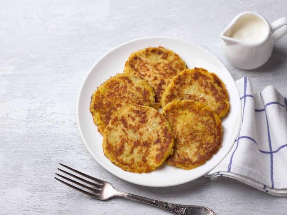 Galettes Légères de pomme de terre au fromage frais et ricotta