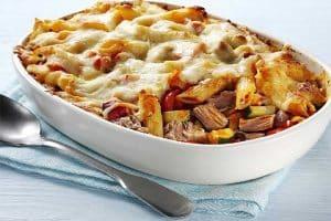 Gratin Léger de pâtes aux courgettes et thon
