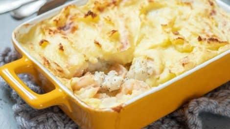 Gratin Léger de pommes de terre et poisson