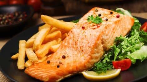 Pavés de saumon au four