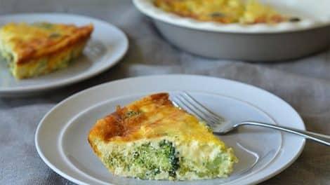 Quiche Légère au brocoli sans pâte